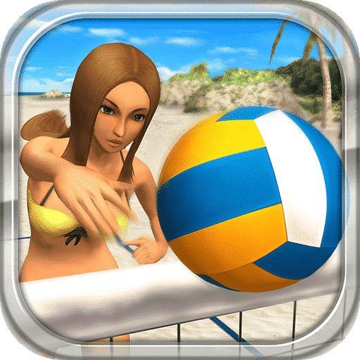 天堂沙滩:拍球与比基尼